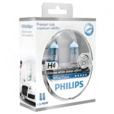 H4 Philips White Vision